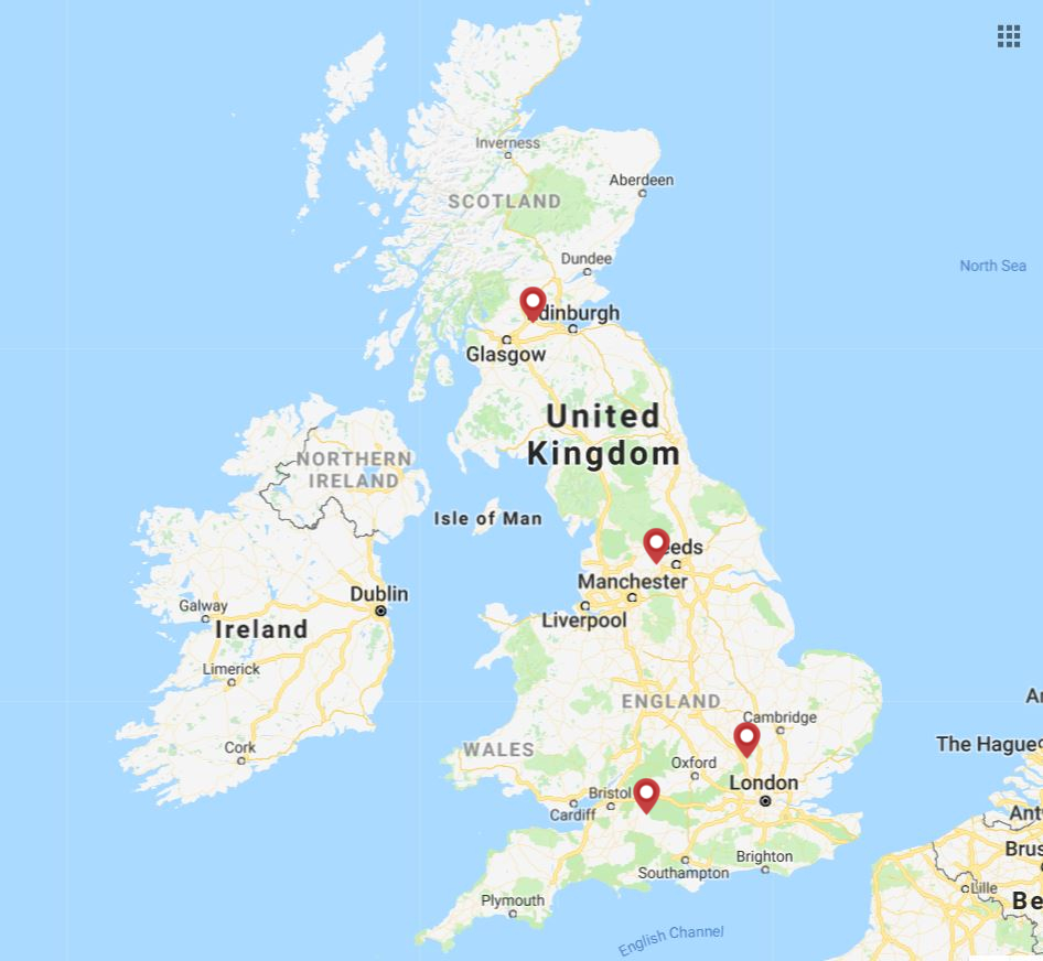 Palfinger UK coverage map