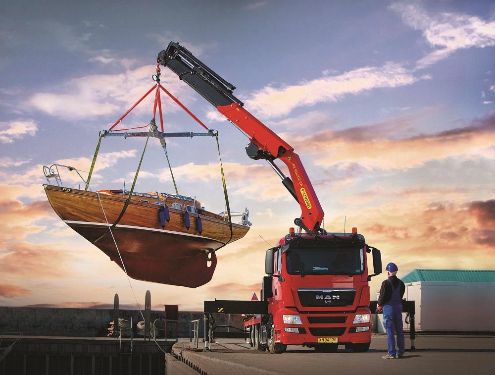 Palfinger cranes for transport and distribution