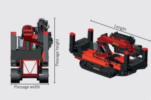 crawler crane compact dimensions