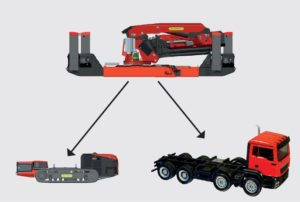 Crawler crane used on truck and crawler