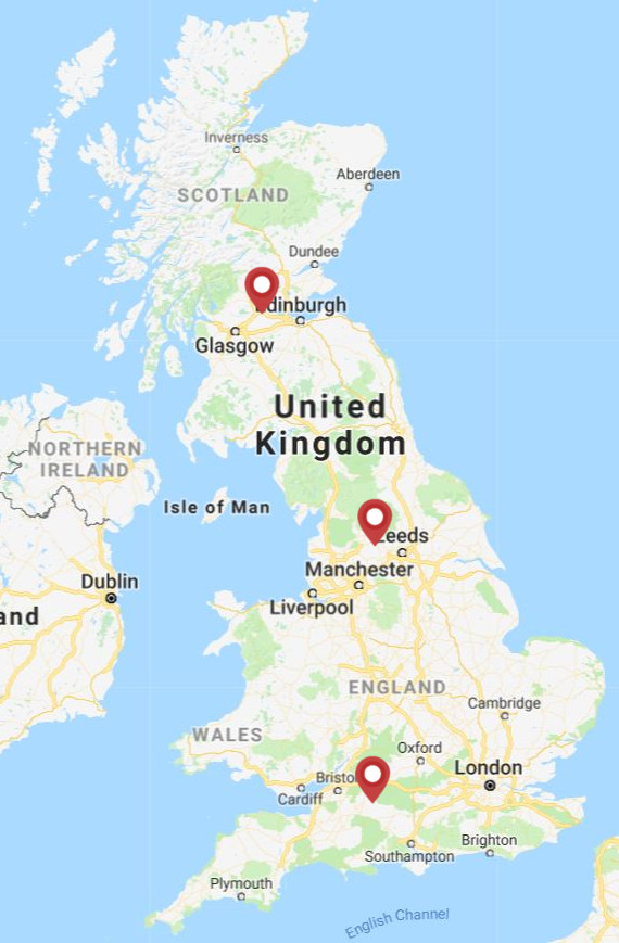 Palfinger UK depot map